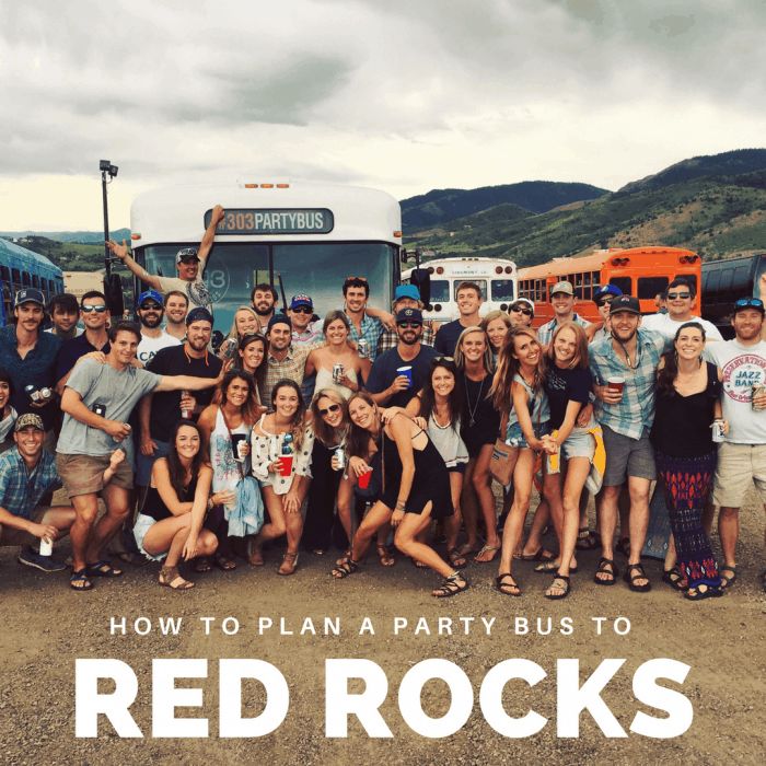 how to plan a party bus to red rocks