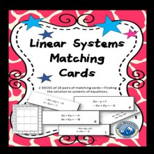 linear systems matching cards