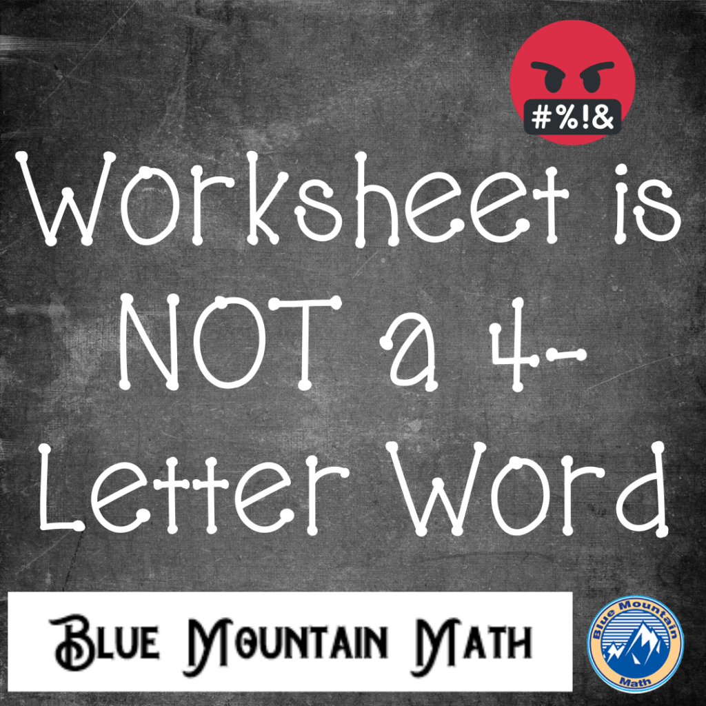 Worksheet Is Not A 4 Letter Word