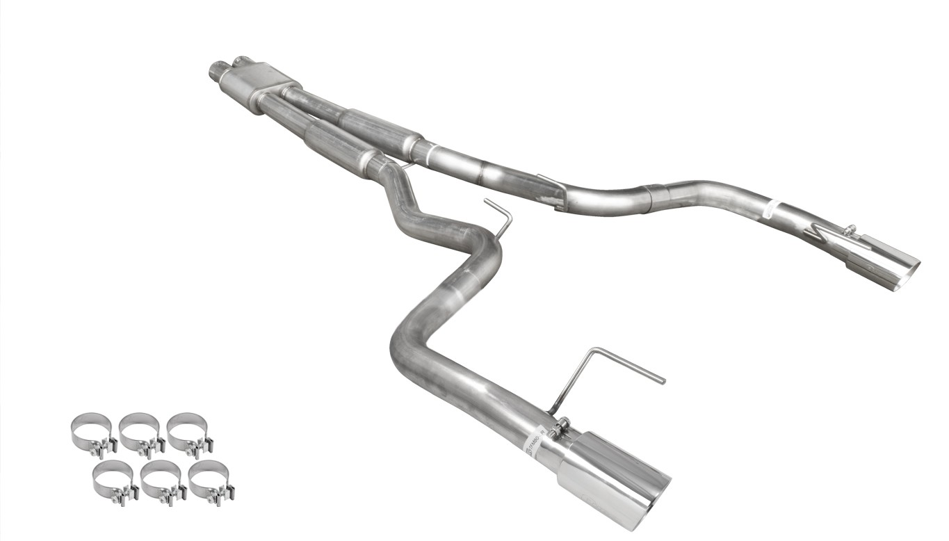 Mustang Gt Pypes Catback H Box 3 Stainless Exhaust System