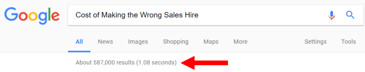 cost of making the wrong hire for sales team