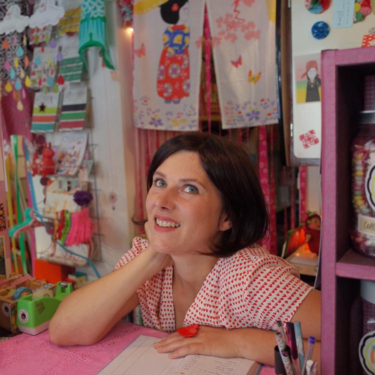 Female entrepreneur in own shop