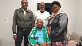 Video: Ex-Nigerian international Christian Chukwu not dead, celebrates 70th birthday, hale and healthy