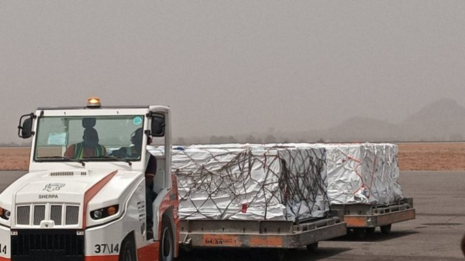 Breaking: First batch of COVID-19 vaccines touch down Nigeria