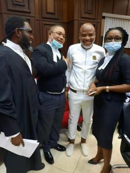 What Court ruled at Nnamdi Kanu's resumed trial