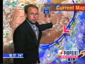 Tommy in studio WMC-TV Memphis around 2000