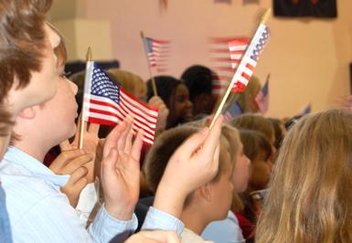 flag waving blur