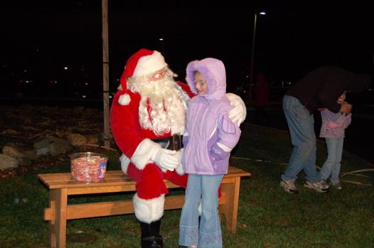 santa kid close