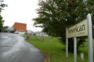 The Entrance To The American Fibers & Yarns Company In Afton, Virginia