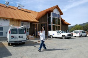 Contractors are busy finishing up the exterior of the brewery and restaurant near the intersection of VA Route 664 & 151.