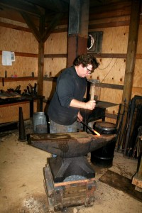 Photo By Henri Weems : Gerald Boggs of Wayfarer Forge in Afton was one of several stops on this year's Artisians Studio Tour.