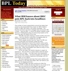 A screenshot of a recent trade publication (BPL Today) article on the IBM / IBEC partnership.