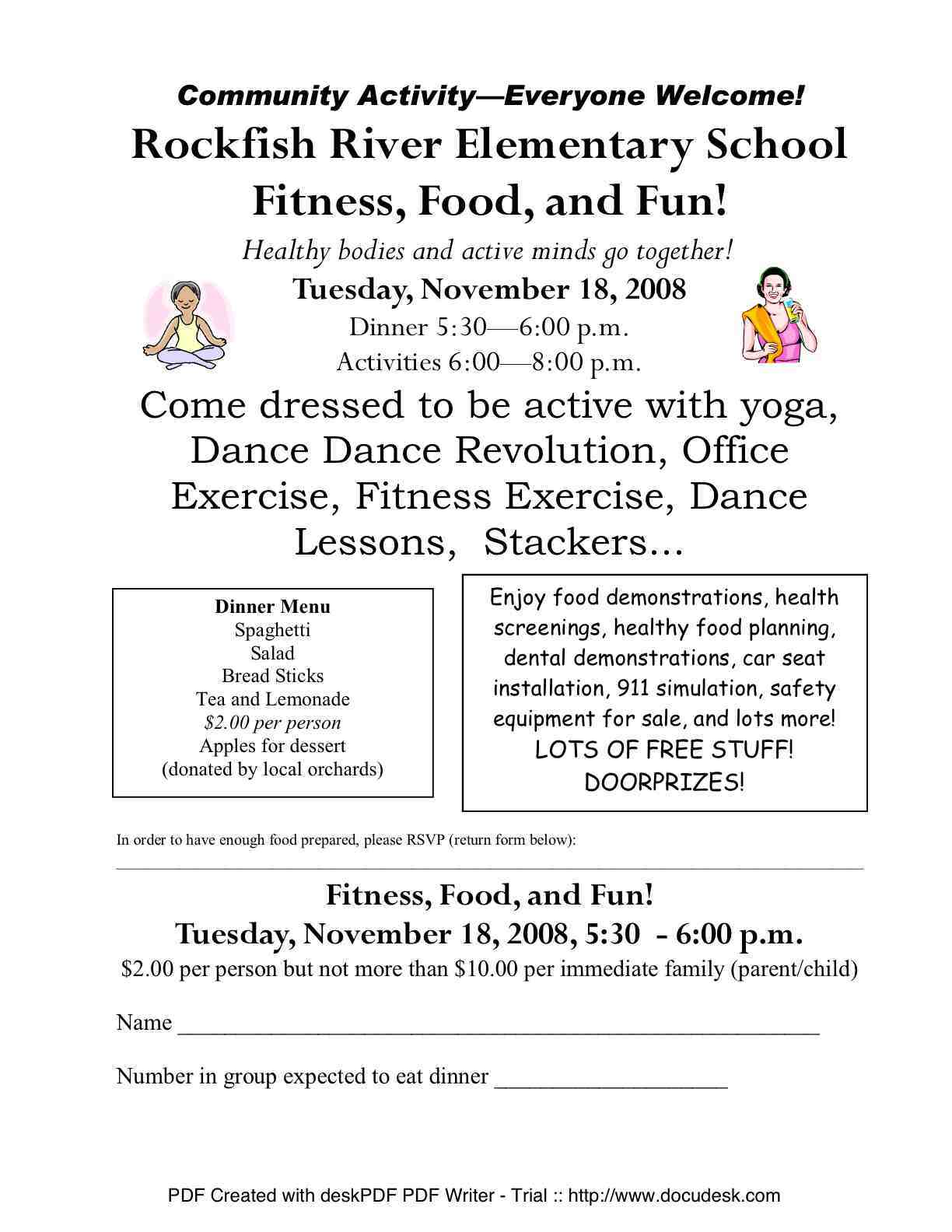 Rockfish River Elementary : Fitness, Food & Fun : November 18th 2008
