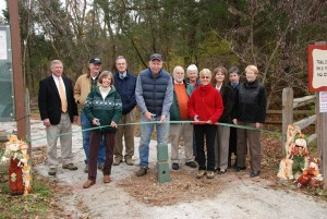 Photos By Diana Garland : The ribbon is offically cut opening the latest section of VA Blue Ridge Railway Trail in Piney River at Roses Mill.