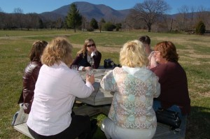 Guests enjoy Wintergreen Wine at last year's 2007 Open House!