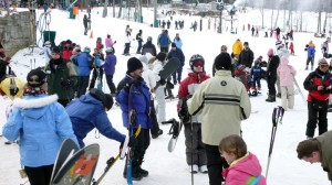 Photos By Paul Purpura ©2009 NCL Magazine : The slopes are packed this weekend at Wintergreen Resort, thanks to some of the best winter weather in years! - Click on any photo to enlarge.