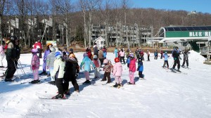 Though the slopes were not overly packed, the resort was at full occupancy over the holiday weekend.