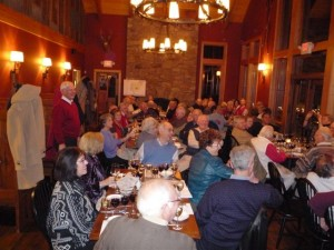 Members enjoyed a five course dinner. Each course was paired with a unique wine.