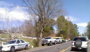 ©2009 NCL Magazine : Photos By Nancy Hellerman : Albemarle County Police line Route 250 about 3 miles west of Greenwood, VA