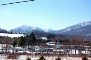 ©2009 NCL Magazine : Lots of snow was still on the mountains Wednesday morning, but much warmer weather is on the way!