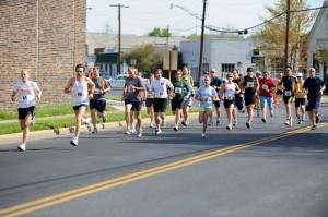 Runners take to the streets of Waynesboro as part of the Road & River Relay.