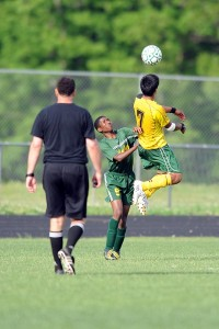 Photo By Paul Purpura : ©2009 NCL Magazine : #7 Albert Lachance of NCHS's Governors Soccer helps the team to a win this past Memorial Day against Buckingham.