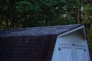 Frost covers this shed's rooftop in Greenfield just north of Nellysford, Virginia