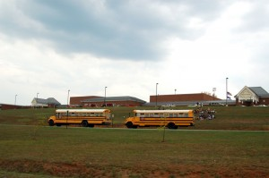 ©2007-2009 NCL Magazine : File Photo of an evacuation from a September 2007 bomb threat at Nelson County Middle School