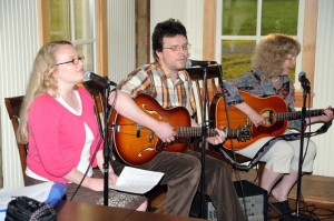The Corn Hog Association played music for folks dropping by at this past Friday's soft opening.
