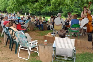 Photos By Paul Purpura : ©2009 NCL Magazine : The Highlander String Band plays at Humpback Rocks Mountain Farm this past weekend on the Blue Ridge Parkway.