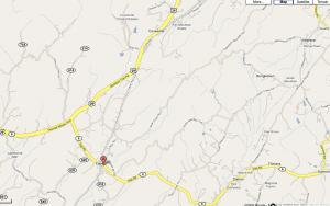 The accident scene is on the Nelson-Albemarle County Line on Route 29N :  via www.google.com