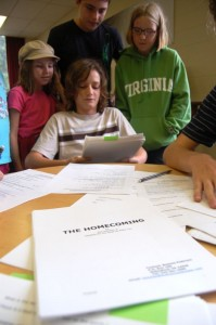 Photos By Tommy Stafford : ©2009 www.nelsoncountylife.com : Youngsters read lines at last night's audition for parts in the upcoming production of The Homecoming at The Hamner Theater in Nelson County, Virginia.