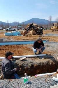 By March of 2008 construction of the brewery was well on its way.