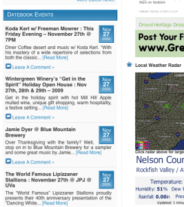 Lots to do this weekend in Nelson County, Virginia. Be sure to check out our Datebook Events Section on the homepage of NelsonCountyLife.com