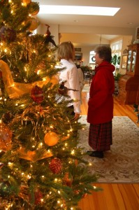 People enjoy the Christmas beauty inside the historic Simpson home.