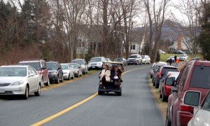 Folks attending Sunday's Christmas House Tour were provided with complimentary shuttle service to the final destination, if those chose to ride rather than walk!