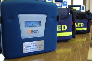 The Sheriff's Office plans to set aside money from future fund raising activities to support the ongoing costs of the AED units.