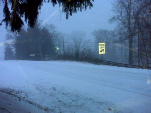 ©2010 www.nelsoncountylife.com : Route 151 in Greenfield north of Nellysford around daybreak Saturday.