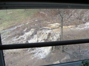 Another photo By Gerald Boggs : View from his window as the culverts were blocked.