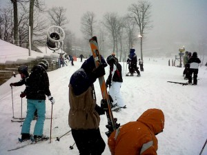 Photo By Paul Purpura : For snow lovers, it's a perfect day up at Wintergreen Resort!