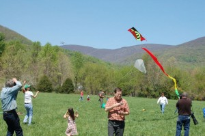 Though the skies were clear, the winds were light at times, but not enough to keep these kites down!