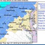 Frost Advisory Begins Early Wednesday Morning : CANCELED