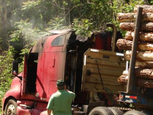 Photos By Ray Uttaro : Area fire and rescue crews responded to this logging truck fire Wednesday afternoon. Click photos to enlarge.