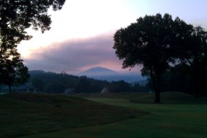 Photo By John Holman : Smoke hangs in the air just before daylight in Stoney Creek.
