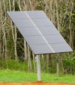 A closer look at the CVEC solar panels.