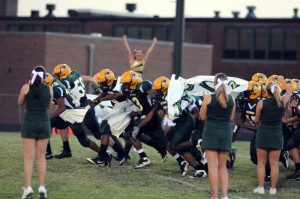 The NCHS GOvernors take to the field this past Friday night, September 17, 2010 at their first home game.