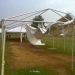 Storm Damages Farmers Market Tent In Nellysford : 9.23.10