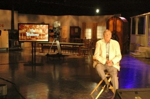 Nelson County native, Earl Hamner, Jr. on the INSP reunion set.