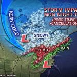 Possible Wintry Weather By Late Monday Into Tuesday