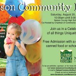 Nelson Community Day - This Saturday 8.20.11